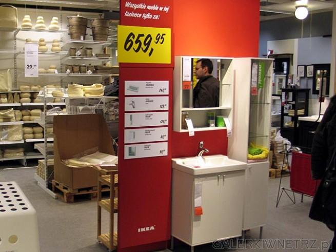 Tanie meble łazienkowe - wszystkie meble w tej łazience kosztują 659,95PLN (łącznie ...