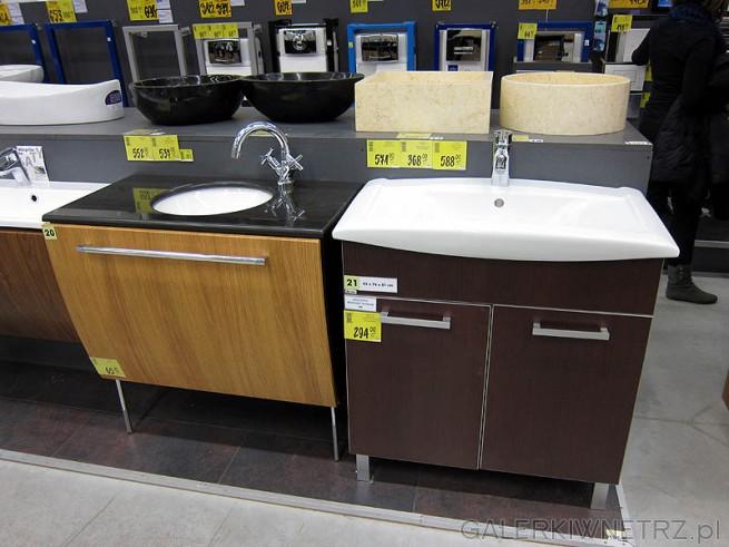 Okrągła umywalka wpuszczana w blat - szafka pod taką umywalkę