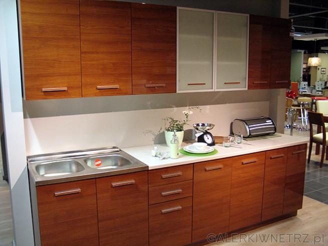 Kuchnia Nika Standard FTL/WIZ, 260cm w kolorze wiśnia złota lakier. Są to fronty ...