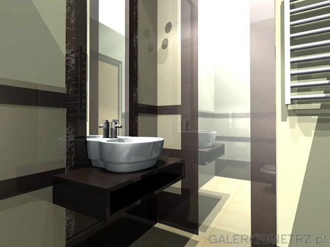 Umywalka w łazience - wizualizacja
