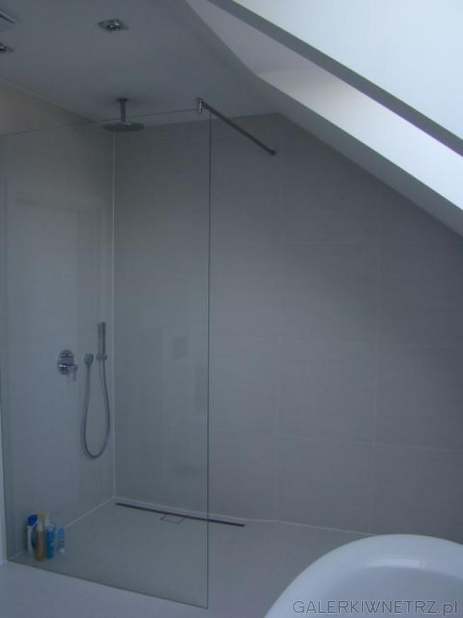 Prysznic Pod Lekkim Skosem Kabina Prysznicowa Typu Walk In
