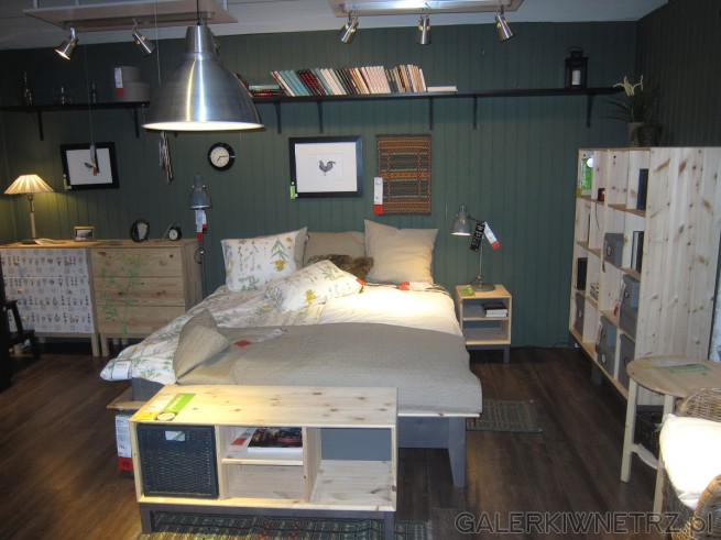 Aranżacja przytulnej sypialni - dwuosobowe łóżko wraz z uroczą pościelą w ...