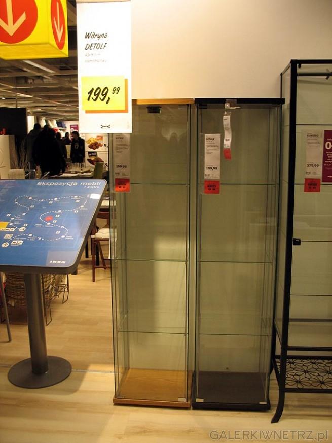 Przeszklona witryna detolf Ikea - pasuje np na alkohole. Cena 200PLN