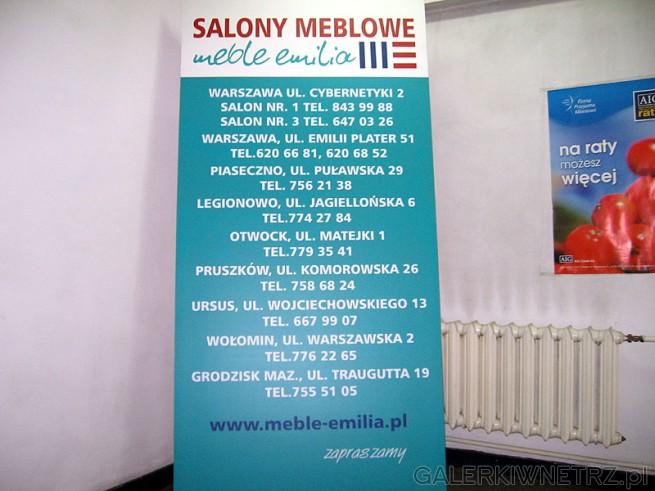 Salony meblowe Emilia - adresy