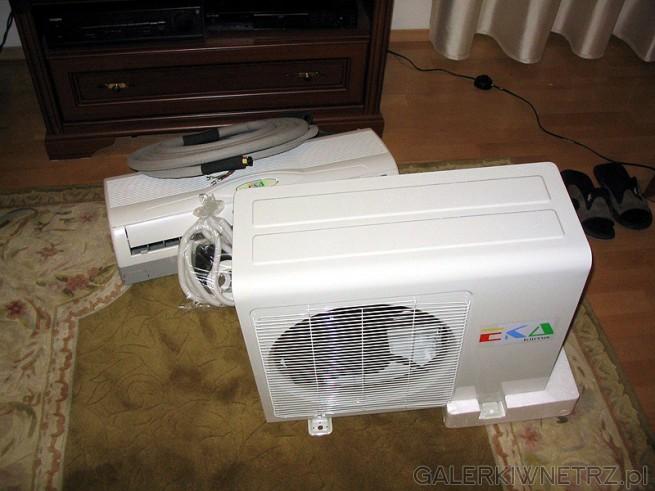 Klimatyzator split zostanie zainstalowany do mieszkania w bloku. Jego moc cieplna ...