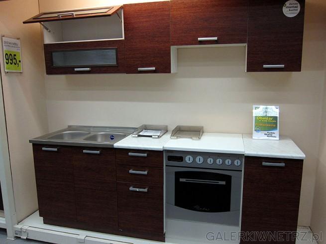 Kuchnia Prima d膮b Paris/7E wysoko艣膰 2,2M, cena 995PLN. Szafki dolne: pod zlew, ...