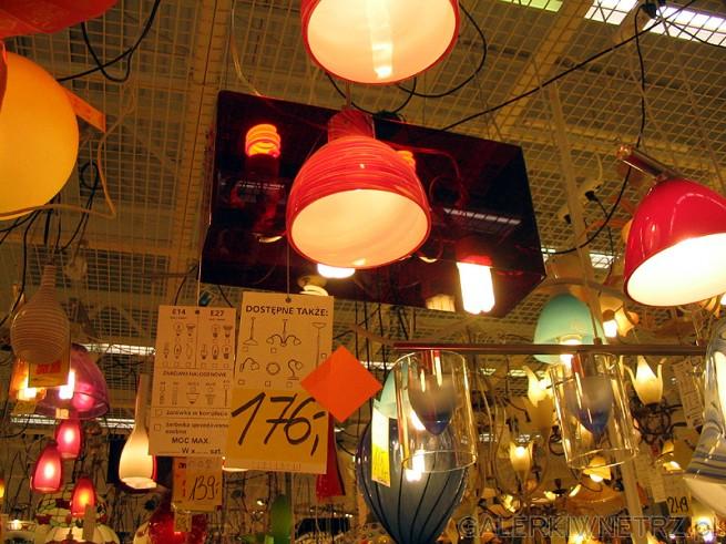 Kolorowe lampy sufitowe