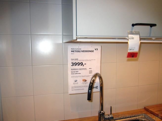 Zestaw mebli kuchennych z IKEI METOD/VEDDINGE, w cenie 3999 złotych za podstawowy ...