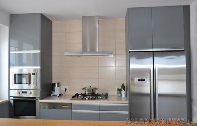 Elementy Metaliczne Idealnie Pasują Do Szarości Kuchnia