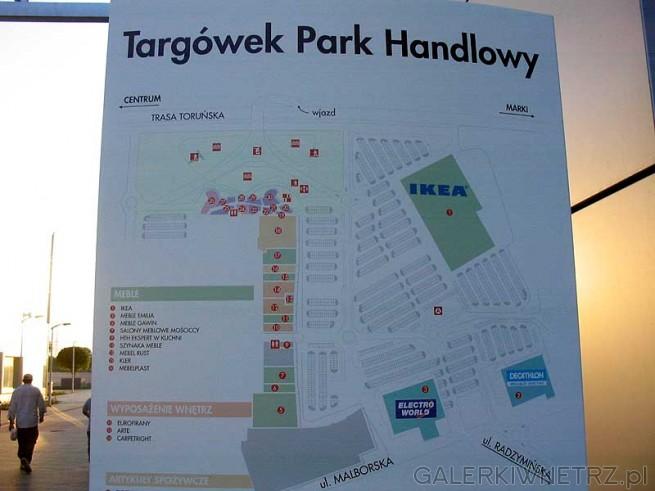 Targ贸wek Park Handlowy - mapka Centrum. Sp贸jny kompleks, s膮siaduj膮cy z Domotek膮 ...
