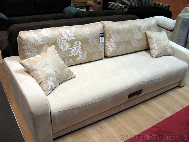 Sofa 3DL Ontario Lux GR-3. Materiał obiciowy Szenil. Powierzchnia spania 148x195cm. ...