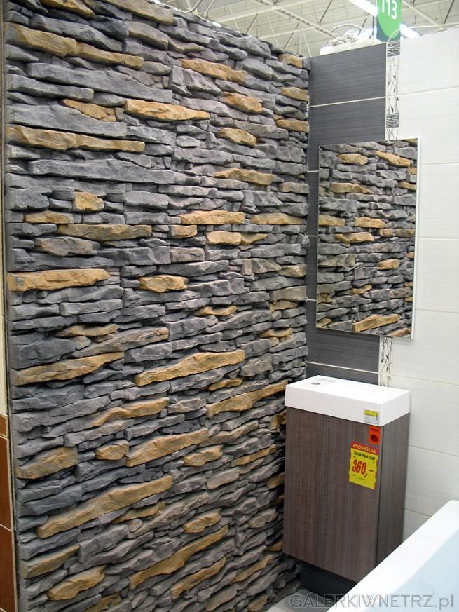 Duża ściana w łazience - z piaskowca