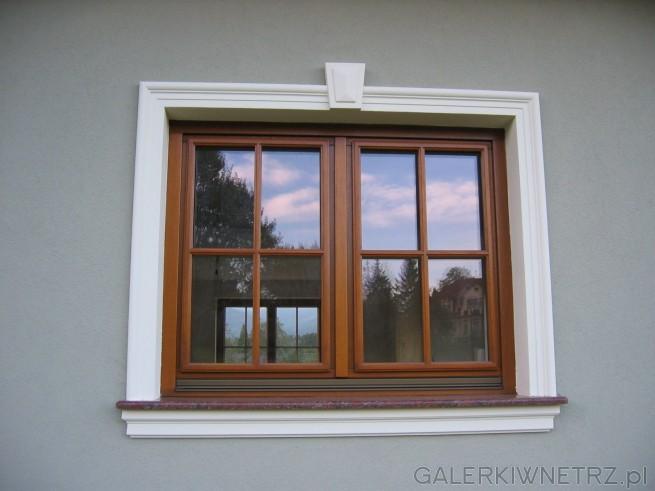 profile wokół okienne są kremowe szprosy ramkowe made by Wiktorczyk
