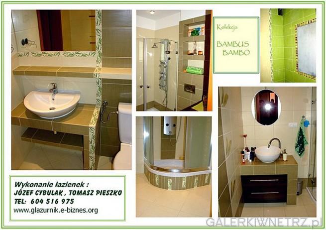 Łazienka z glazurą Bambus z Opoczna i kolekcją Bambo