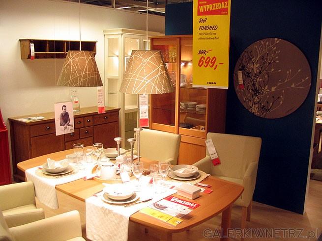St贸艂 kuchenny IKEA + krzes艂a. FORSHED cena 699PLN