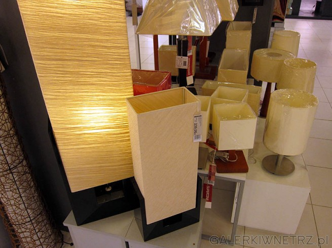Lampki w kolorze ecru