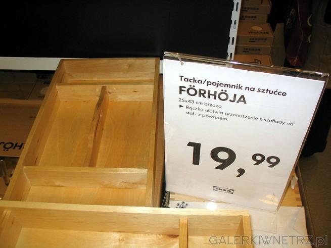 Tacka/ pojemnik - szuflada na sztućce FORHOJA. Pasuje do szuflady - bardzo dobry ...