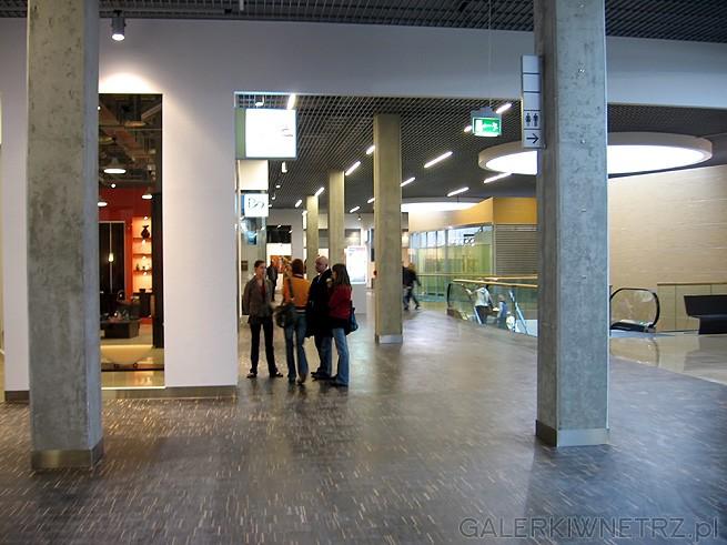 Filary na hallu są betonowe - i moim zdaniem wygląda to zbyt surowo. Mozaika przemysłowa ...