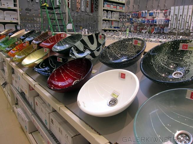 Różnorodne zlewy typu miska do każdego typu łazienki. Kolorowe, biało-czarne, ...