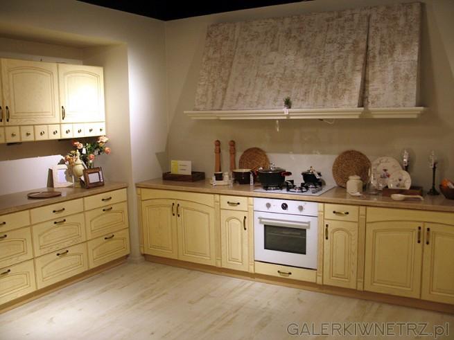 Kuchnia NIKA 260 fantazja, kolor pietra beżowa. Wysokość szafek górnych 716 mm, ...