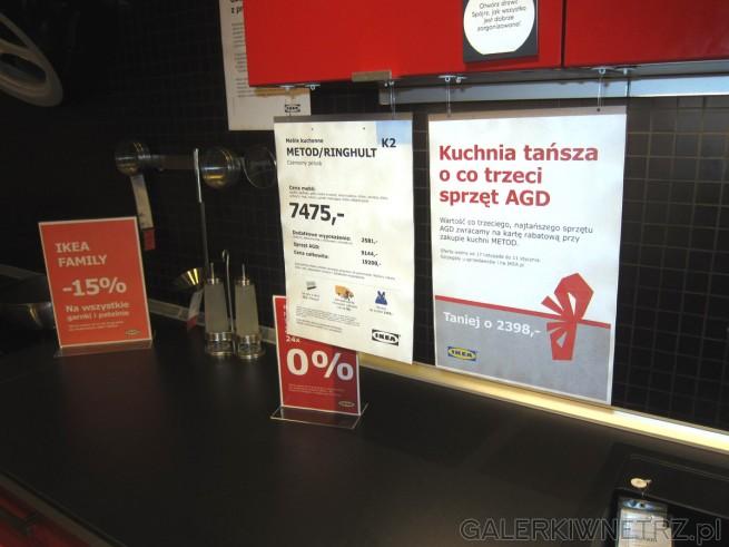 Niezwykła kuchnia METOD/RINGHULT z Ikei utrzymana w czerwieni i czerni za 7475 złotych. ...