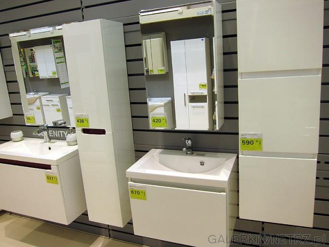 łazienka Leroy Merlin W Białym Kolorze Podwieszane Meble Z