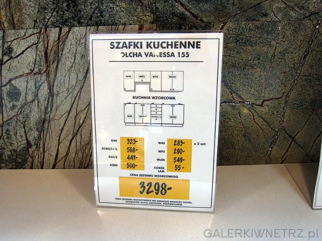 Zestaw na szafki kuchenne w kolorze olcha w cenie 3298 zł. W skład zestawu wchodzi ...