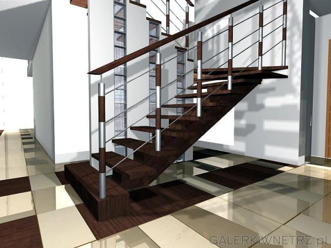 Schody i ciekawa balustrada