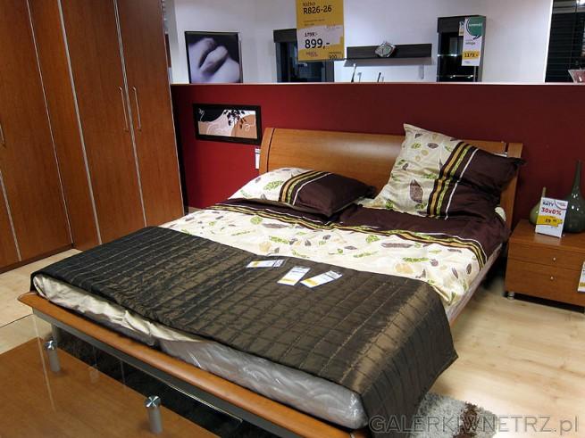 Sypialnia w kolorze drewna, Łóżko R826-26 180cm szerokości, cena 899PLN (przecena ...