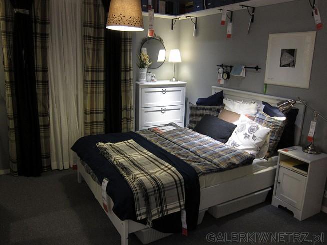Zestaw Do Sypialni Ikea Wygodne Białe Wysokie Dwuosobowe