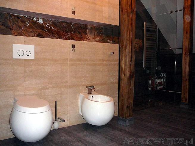 WC podwieszany oraz bidet - w kształcie kuli