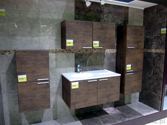 Zestaw mebli podwieszanych do łazienki. :: GALERKIWNETRZ.PL