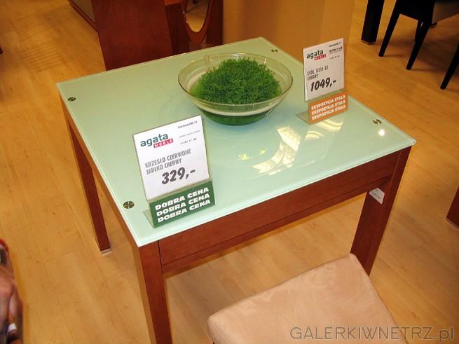 Ten sam stół - Red Apple R211-32 ale w wersji złożonej. Gruby szklany blat wygląda ...