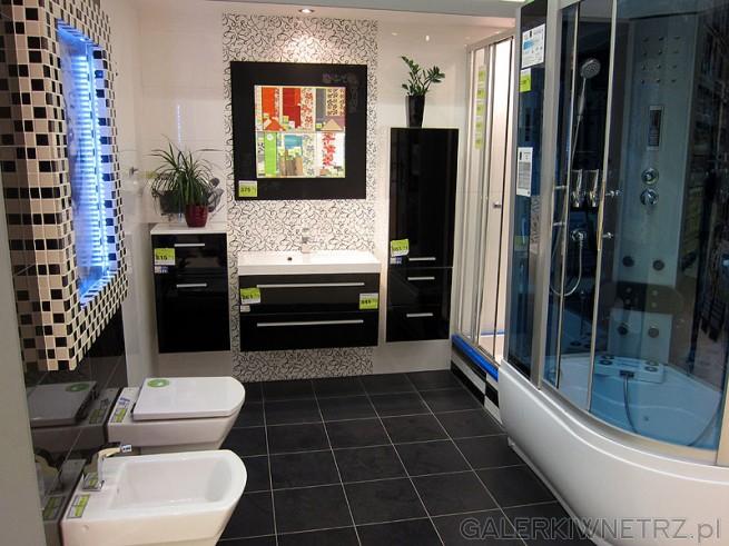 Meble nowoczesne do łazienki: półsłupek, szafka pod umywalkę, słupek wiszący, lustro ...