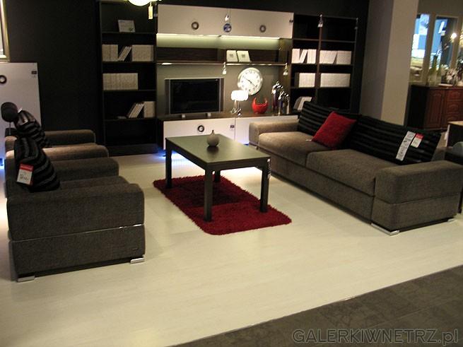 Zestaw wypoczynkowy 3+2 fotele. Sofa 3 Mezzo 3F GR-3. wymiary 78x250x88cm. Powierzchnia ...