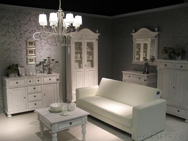 Białe meble w starym stylu