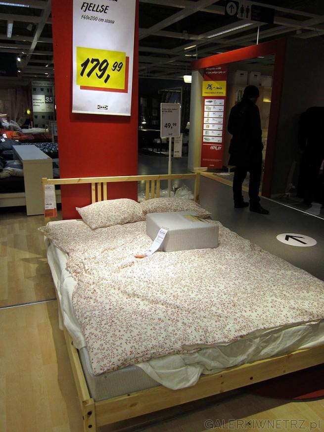 Rama łóżka - łóżko Fjellse 140x200cm, sosna, cena 180PLN (cena bez dna łóżka). ...