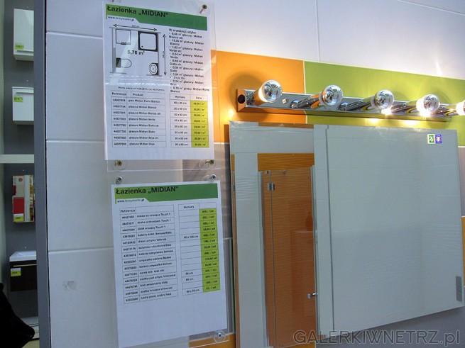 Najważniejsze informacje na temat ekspozycji łazienki typu Midian. Spis materiałów ...