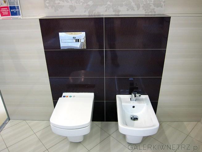 Coraz popularniejszy komplet łazienkowy. Bidet i sedes o takim samym kształcie. ...