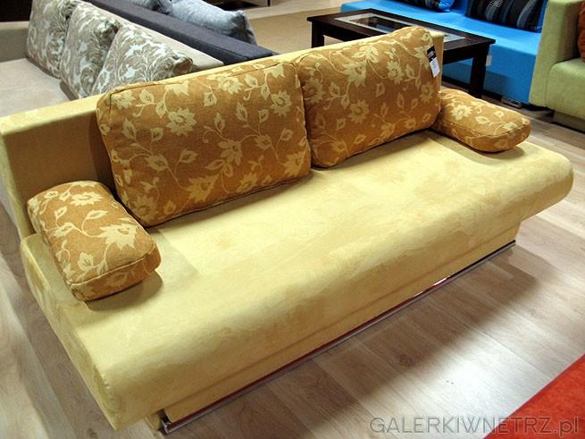 Sofa 3DL Herbert GR-6. Materiał obiciowy Alkatex. Cena 1199PLN. Zielona sofa, rozkładana ...