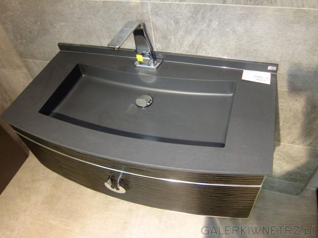 Piękna umywalka Akcess o prostokątnym kształcie, wraz z dolnąszufladą na uporządkowanie ...