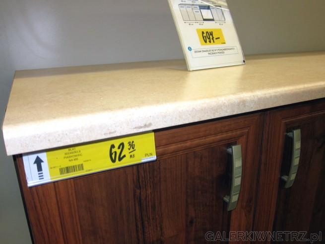 W zaproponowanej aranżacji kuchennej z meblami ORZECH użyto blatu kuchennego o wymiarach ...