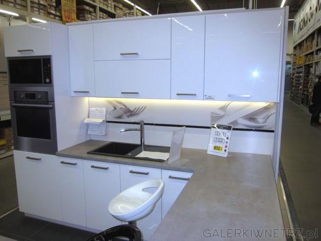 Meble kuchenne CITY - białe, proste, minimalistyczne, idealne dla osób lubiących ...