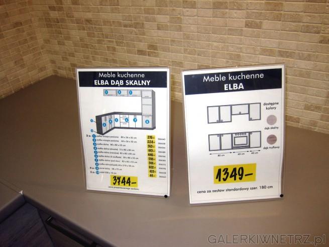 Prezentowany zestaw ELBA dąb skalny to meble składające się z poszczególnych ...