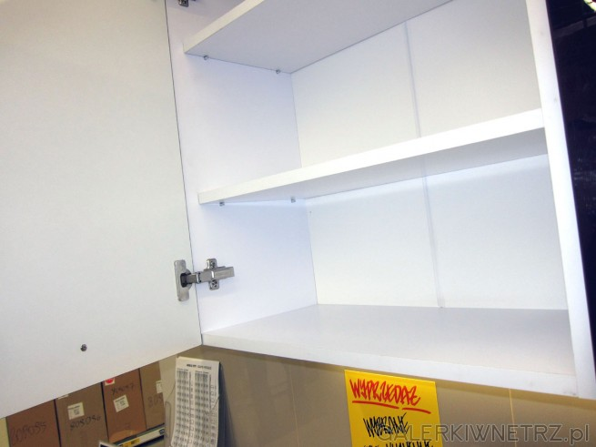 W ofercie Castoramy tanie elementy kuchenne: m.in. biała szafka kuchenna z szufladami, ...