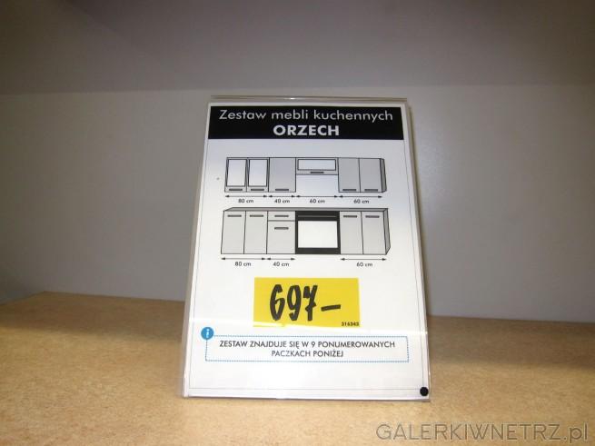 Zestaw kuchenny ORZECH w cenie 697 złotych w Castoramie. To niska i atrakcyjna cena ...