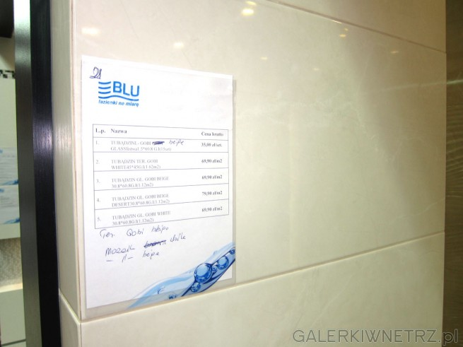 Terakoty i glazury marki Tubądzin: Tubądzin -Gobi beige Glass listwa 1.5*60.8 ...