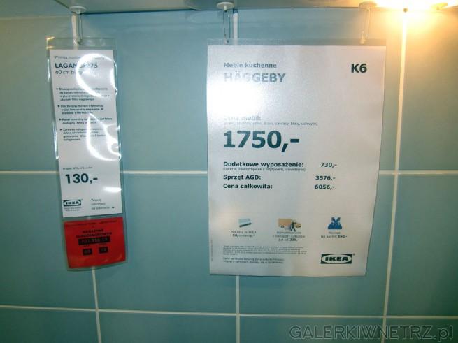 Meble kuchenne HAGGEBY za 1750 złotych, w skład których wchodzą: szafki, szuflady, ...