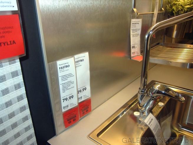 W Ikei znajdziemy także panel ścienny, który zabezpieczy ścianęprzed zabrudzeniami. ...