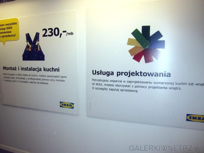 W Ikei także usługa projektowania oraz montażi instalacja kuchni.
